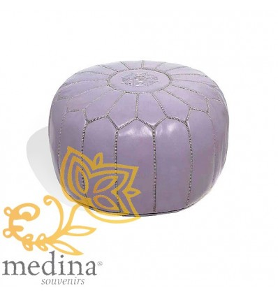 Moroccan Purple leather pouffe Moroccan design_ Pouf Leather Ottoman Poof hassock Footstool Beanbag leather pillow