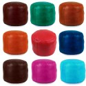 Moroccan Fuschia moroccan round pouffe_ Pouf Leather Ottoman Poof Pouffe pouffes hassock Footstool Beanbag leather pillow