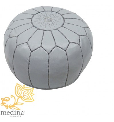 Moroccan Light blue leather pouffe Moroccan design_ Pouf Leather Ottoman Poof pouffes hassock Footstool Beanbag leather pillow
